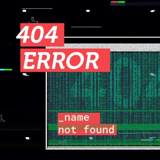 404 Error name not found